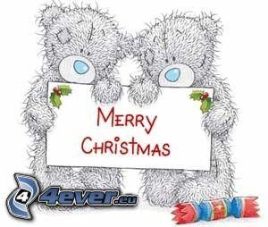 teddy bears, merry christmas