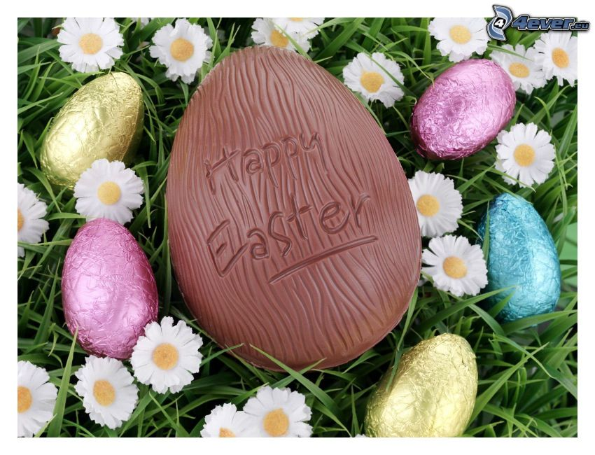 Happy Easter, chocolate egg