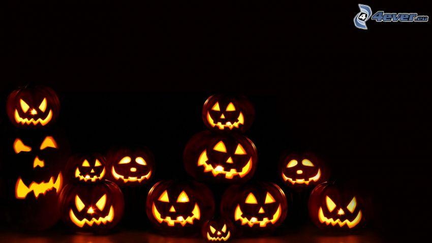 halloween pumpkins, darkness