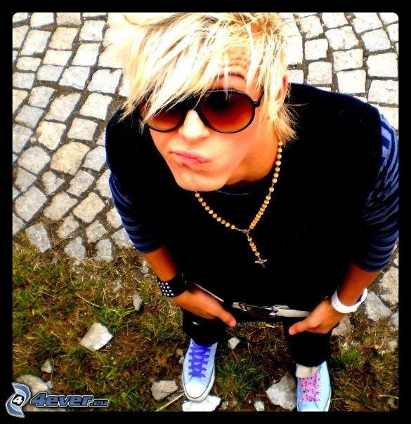 blonde, image boy
