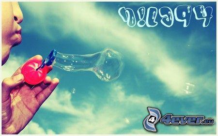 bubble, Bubble Blower, sky