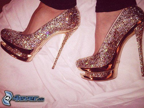 Christian Louboutin, pumps, diamonds