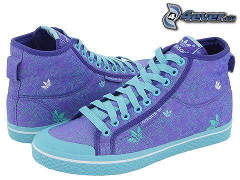 Adidas, blue sneakers