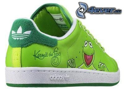 Adidas, sneaker, Kermit the Frog, frog, green