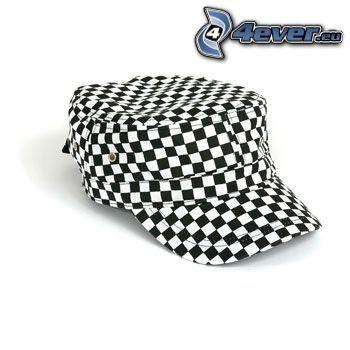 cap, cube, chessboard