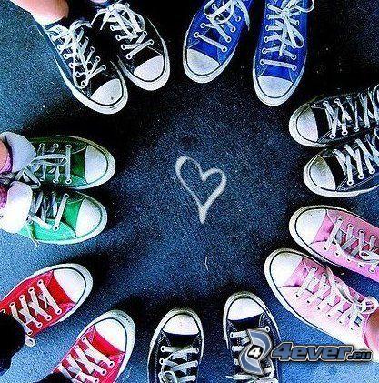 circle, Converse, heart