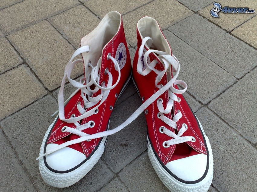 Converse, red sneakers