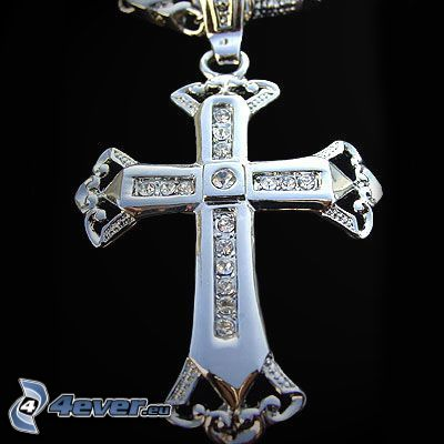 cross, gemstone