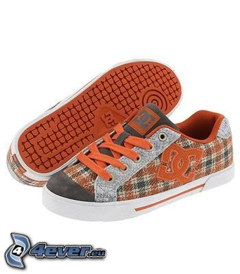 DC Shoes, brown sneakers