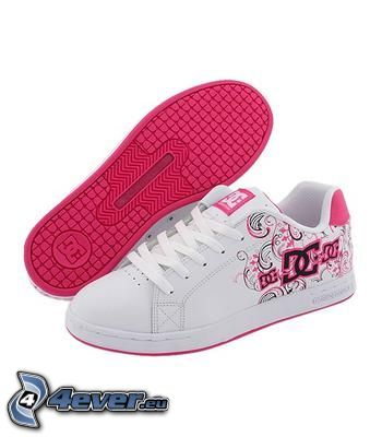 DC Shoes, white sneakers