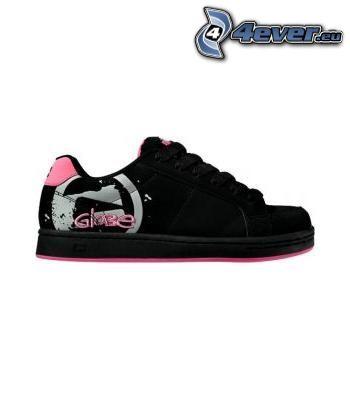 glabe, black sneaker