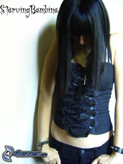 gothic, corset, bangs