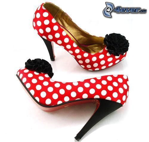 shoe, dot, heel