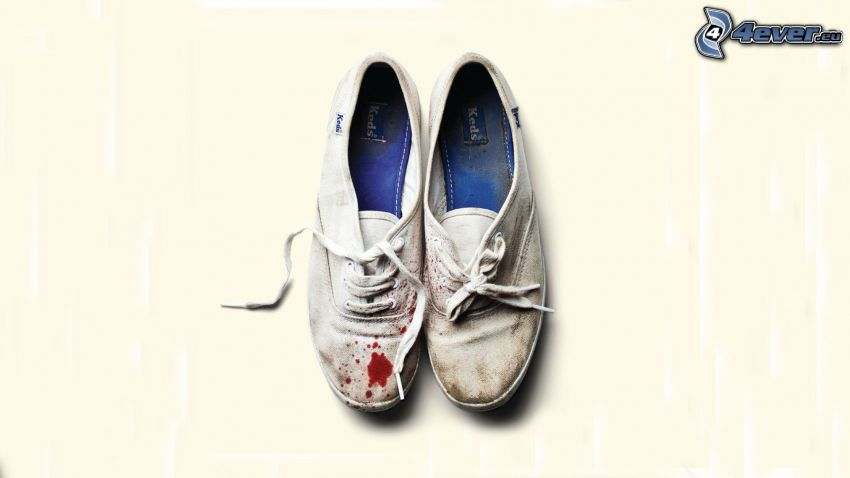 shoes, blood