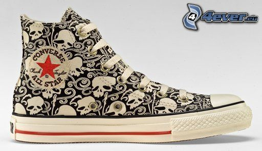 sneakers with skull, Converse, chinese shoes