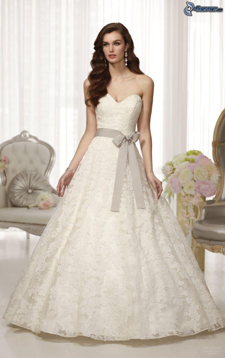 wedding dress, bride, chairs, bouquets