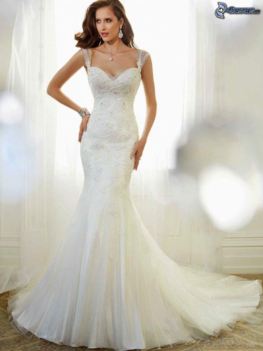 wedding dress, bride
