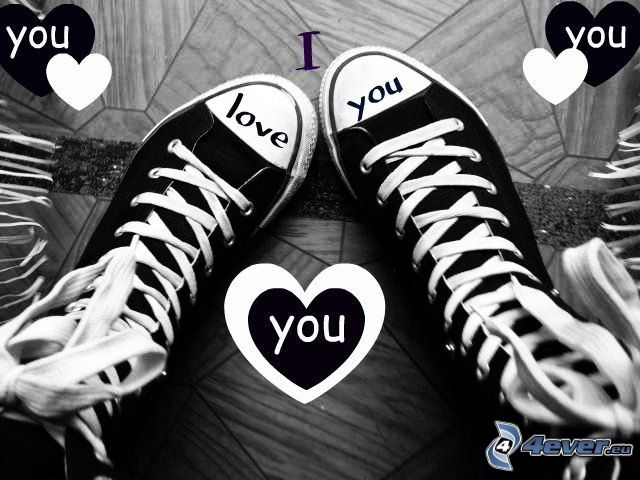 Converse, I love you, heart