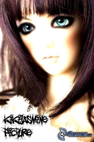 doll, girl, bangs