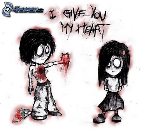 Emo Couple Emo Heart