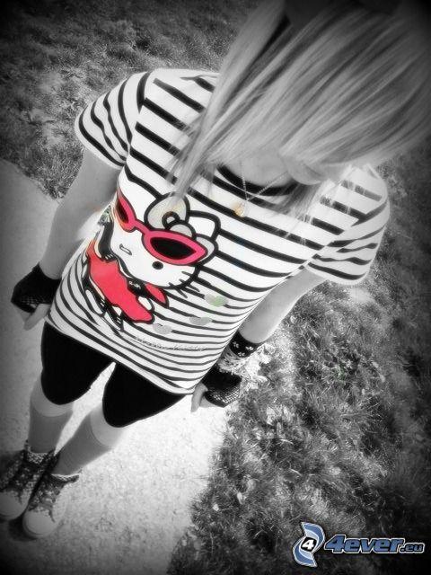 emo girl, Hello Kitty
