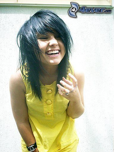 emo girl, laughter