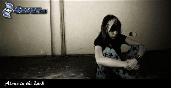 emo girl, loneliness, depression