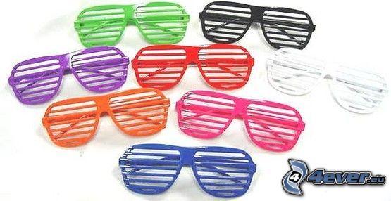 glasses, colored