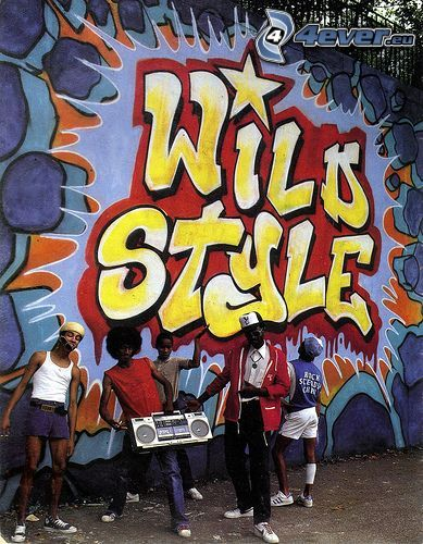 graffiti, black man, hip hop