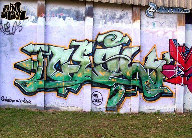 graffiti, wall