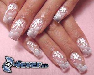 nail, flower, cosmetics