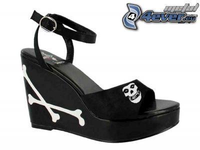 shoe, Grim Reaper, skeleton, bone