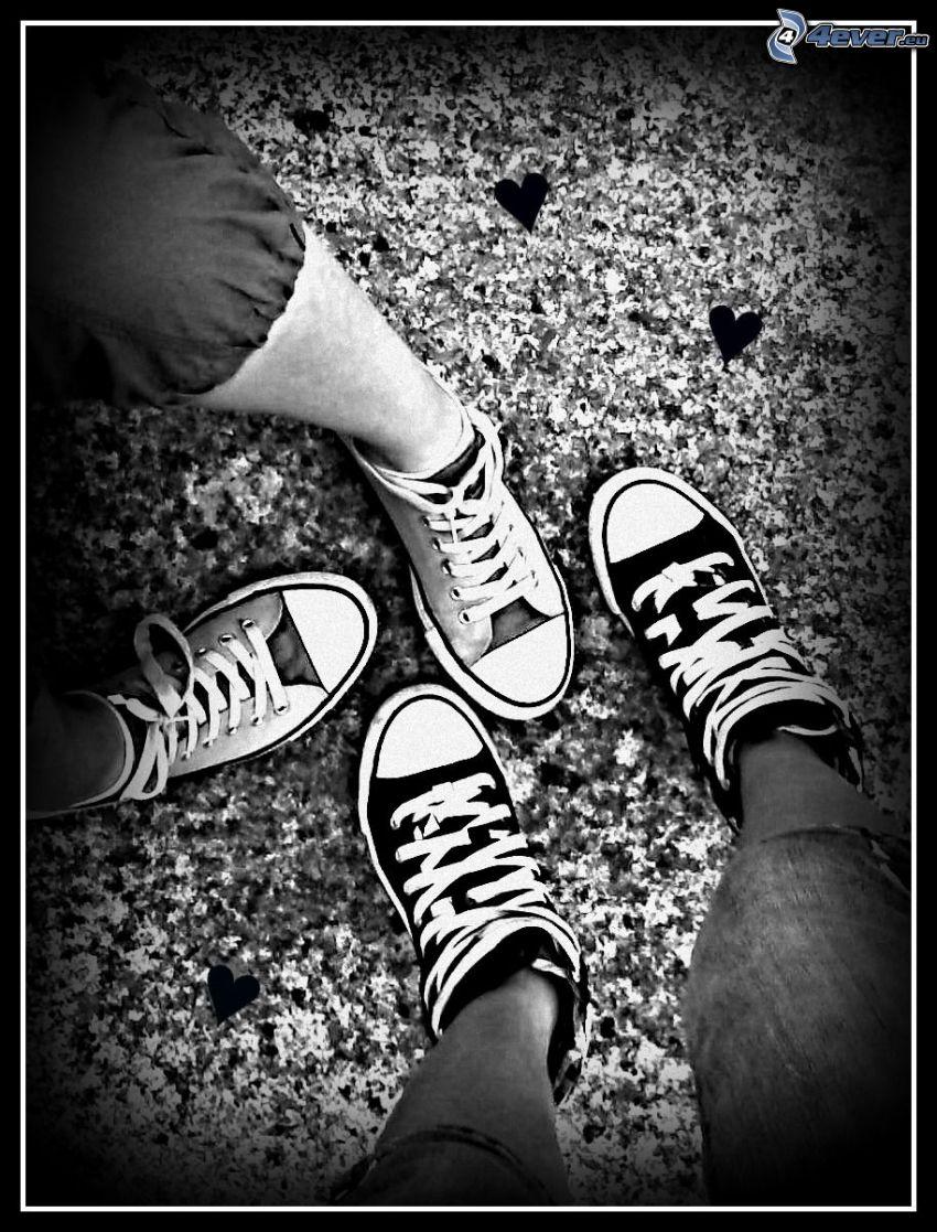 shoes, legs
