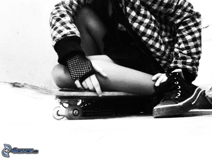 skateboard, girl