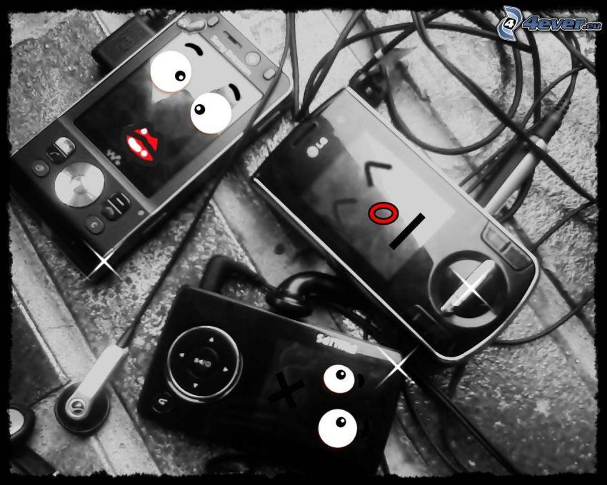 smiles, phone
