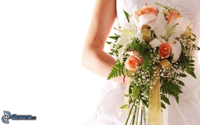 wedding bouquet, bride
