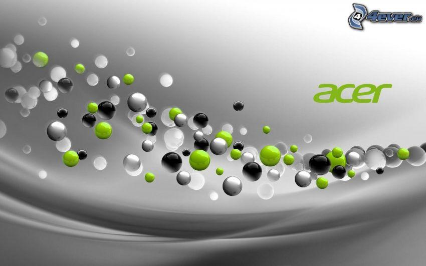 Acer, logo, balls