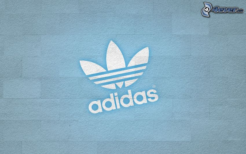 Adidas, blue background