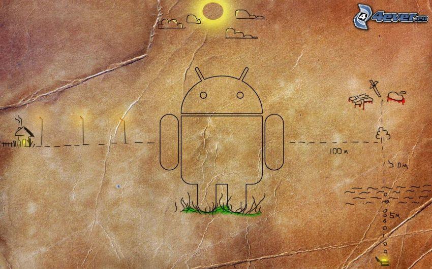 Android, cartoon