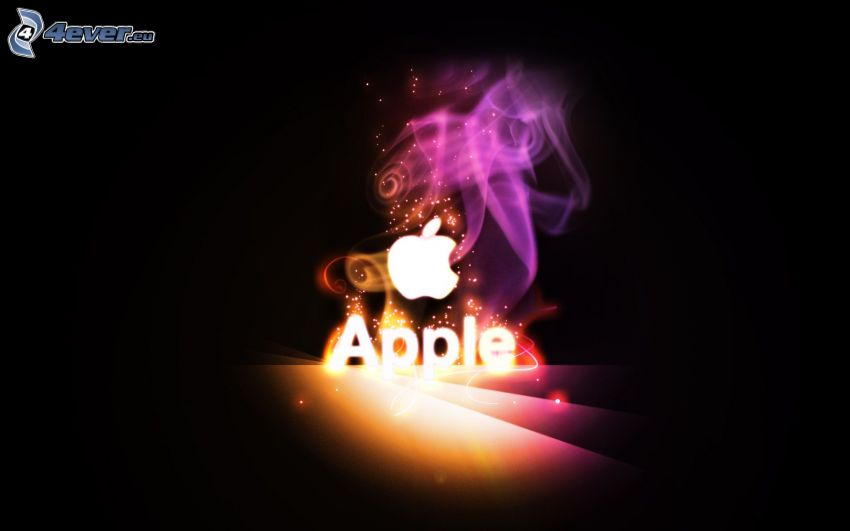 Apple, colored smoke