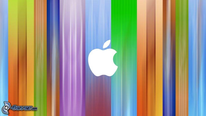 Apple, colored stripes