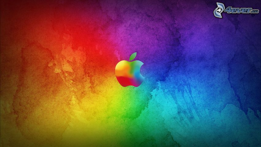 Apple, colorful background