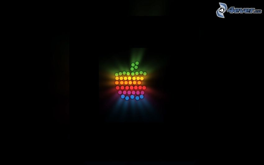 Apple, glow, colors
