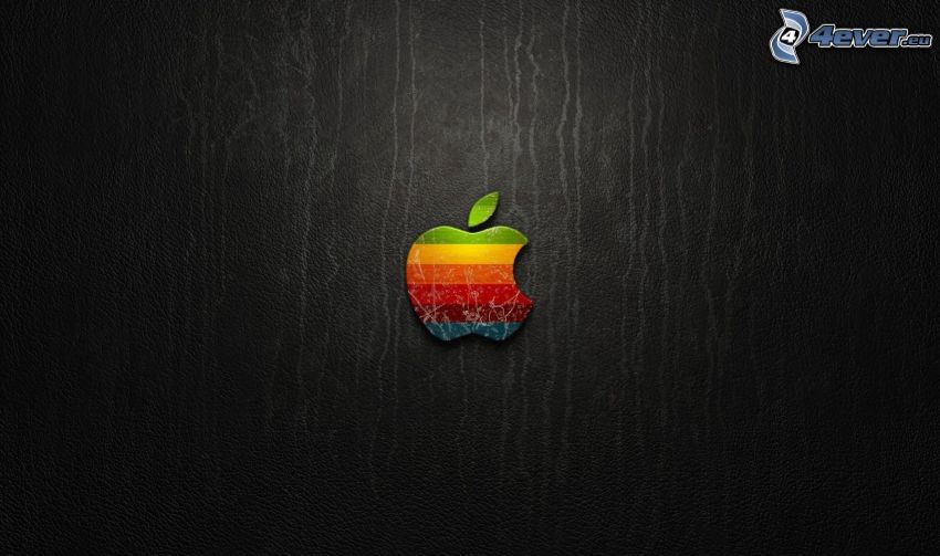 Apple, logo, colored stripes