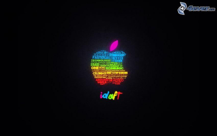 Apple, rainbow colors