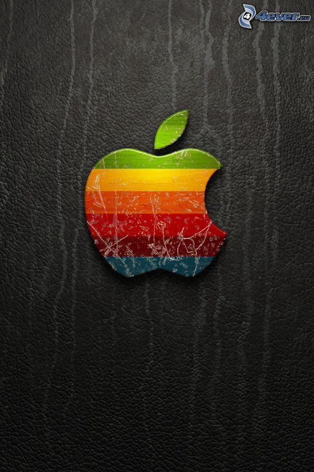 Apple, rainbow stripes