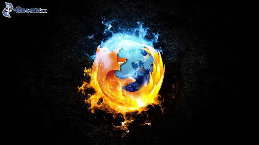 Firefox, black background