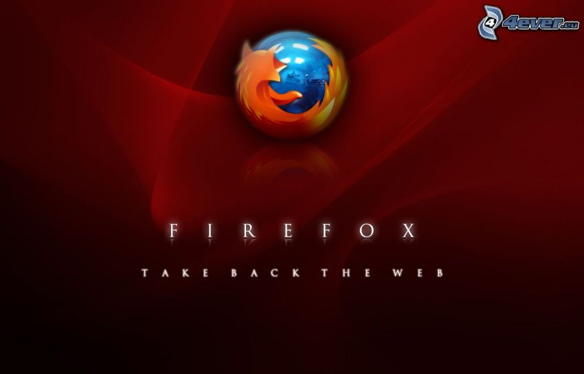 Firefox, red background