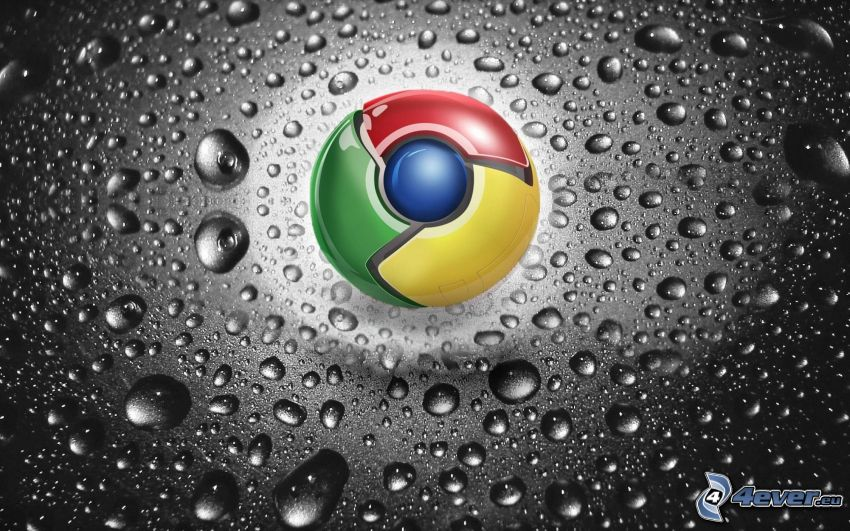 Google Chrome, drops of water