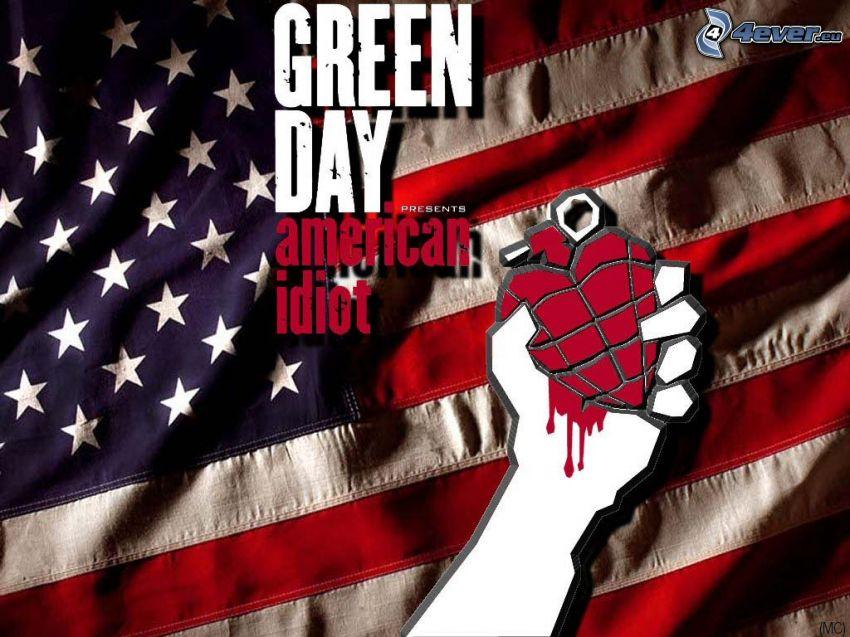 Green Day - American Idiot, american flag